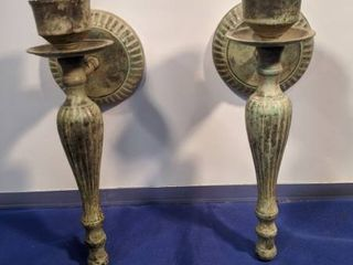 two vintage wall sconce candle holders