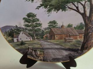 Franciscan porcelain the vanishing American barn by Hamis Hum plate