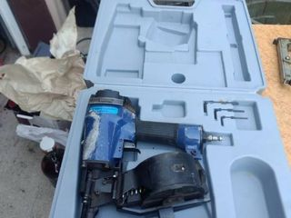 central pneumatic contractor series coil roofing nailer item 92359 working