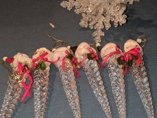 6 Santa and Snowflake ornament