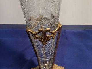 crackling glass vase