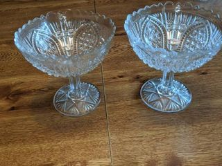 two glass fruit bowls