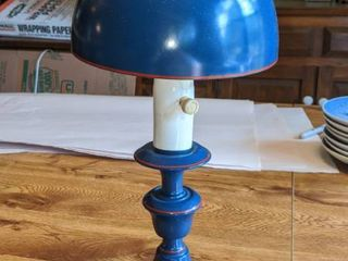 a little blue lamp work