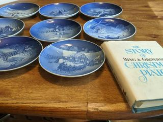 eight plates of bing   grondahl and book