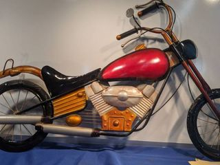 motorcycle made out of tin 40x26 one mirror broken