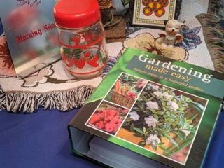 friend blanket throw strawberry glass jar birdhouse trivet I m a pepper morning news holder gardening book