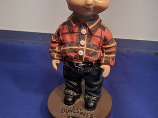 Buddy lee bobblehead with flannel shirt and jeans