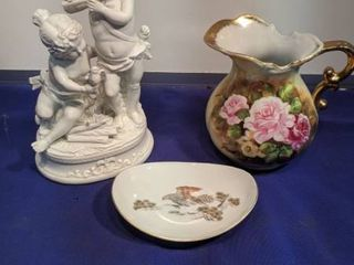 Andrea buys sadak statue made in Japan flower pitcher Peking fine China saucer