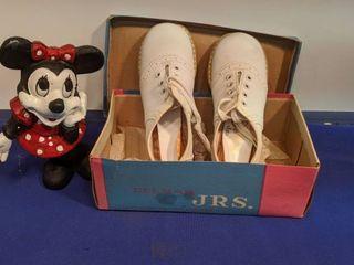 Delmar Juniors saddle shoes cast iron Minnie mouse bank