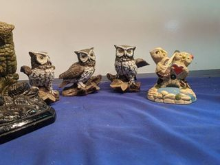 collection of owls green owl is a b o r g h e s e number 123