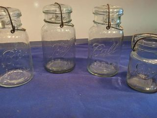 ball glass jars one without lid 1910 to 1923 and 1923 to 1933
