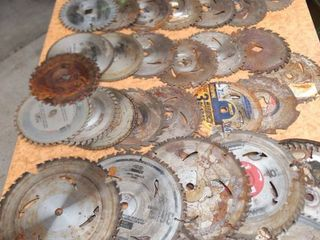 46 mixed saw blades some new some used