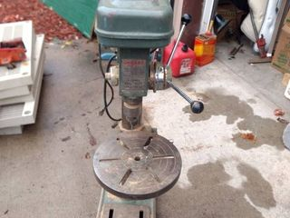 Chicago power tools DP 515 benchtop drill working