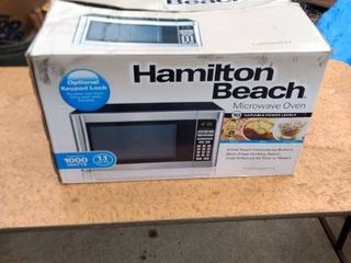 new and box Hamilton Beach microwave oven 10 variable power levels 1 000 w I just opened it