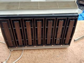 general electric portable air conditioner carry cool plugged in comes on cools all the testing done