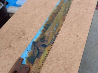 painted one man Buck saw 61 in long