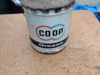 empty co op 5 gallon grease can