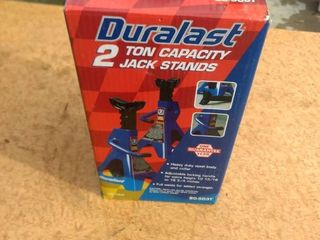 new in open box duralast 2 ton capacity jack stands