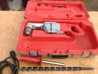 working heavy duty right angled Milwaukee drill and hard case
