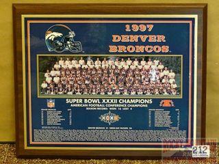 Denver Broncos Super Bowl XXXII Plaque.