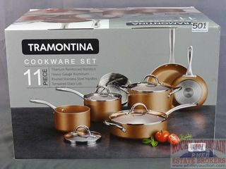 Tramontina 11 PC Copper Finish Cookware Set.