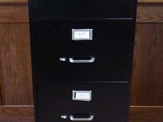 Black 4 Drawer Legal Size Filing Cabinet.