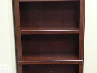 Cherry Finish Bookcase W/ Adjustable Shelves.