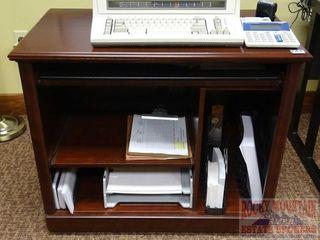 Cherry Finish Rolling Office Helper - Desk.