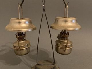 Double Brass Hanging Stand Boat lamp