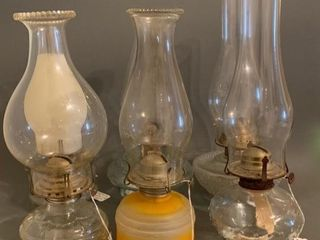 Group of Various Style Oil lamps