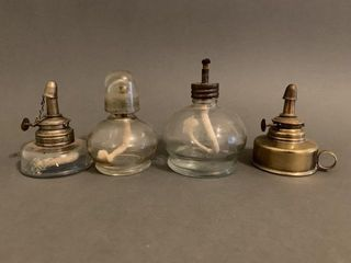 Group of Rare Jewelers Oil lamps