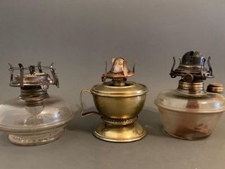 3 Small lamp Bases and Burners