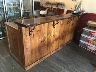 ~8' Black Walnut & Pine Bar