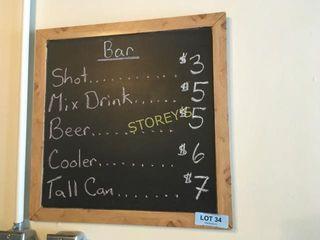 Chalk Board Sign - 18 x 18