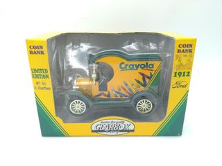 Crayola Die-Cast Coin Bank 1912 Ford Car
