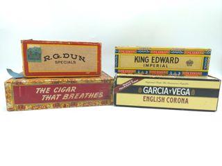(4) Cigar Boxes
