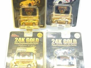 (4) 24k Gold Series Cars