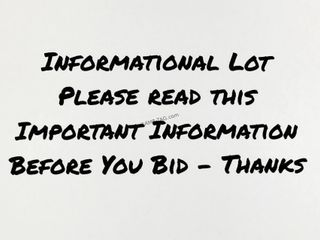 How to Pay for Online Auction = Info Lot