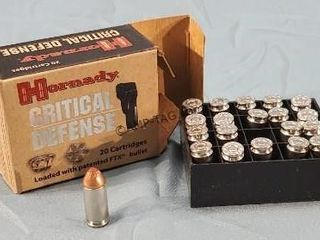 Box of 20 40 S&W Hornady Critical Defence Ammo