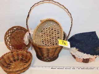 Baskets, Doilies, Etc