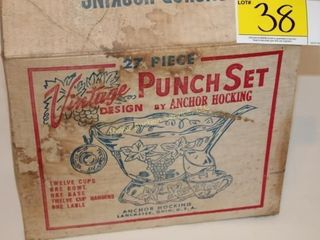 Anchor Hocking Vintage Punch Bowl Set