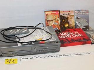 Magnavox VHS/DVD Player & DVD's