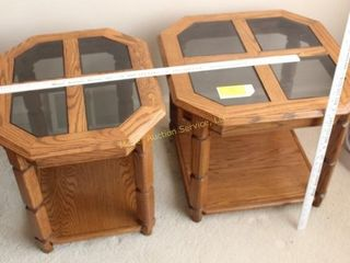 Coffee Table & 2 End Tables w/glass inserts