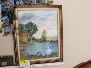 Darlene Hewitt - Original Swan Painting