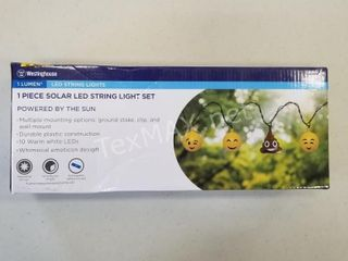 Emoji Solar Powered LED String Light Set