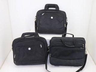 (3) Laptop briefcases