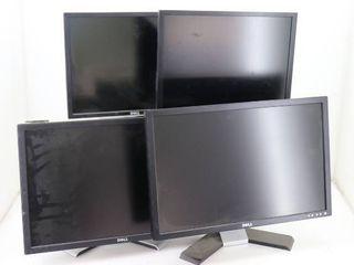 (4) Dell Monitors