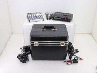 Marantz Recorder and Behringer Mixer