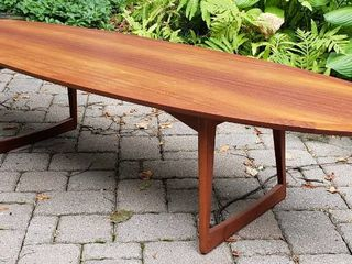 M.M. MOREDDI Danish Teak Surfboard Coffee Table