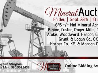 645 +/- Net Mineral Acres   Blaine, Custer, Roger Mills, Dewey, Atoka, Woodward, Harper, Garfield, Grant, & Logan Co., OK; Harper Co., KS; & Morgan Co., CO